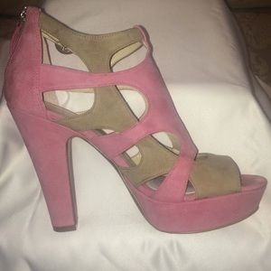 """Enzo Angiolini """"Eamontie"""" Pink/Taupe Sandals"""